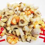 えびと蓮根のピリ辛炒めレシピ