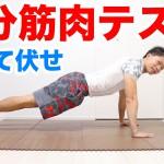 DAY1:腕立て伏せ(1分筋肉テスト)のやり方!あなたの体力レベルが分かります! #1分筋肉テスト