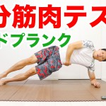 DAY2:サイドプランク(1分筋肉テスト)のやり方!あなたの体力レベルが分かります! #1分筋肉テスト