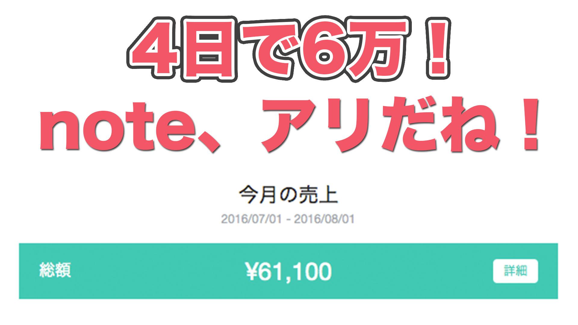 ブログ記事が売れる時代!4日で売上6万円越え!noteを始めよう! #note #ブログ
