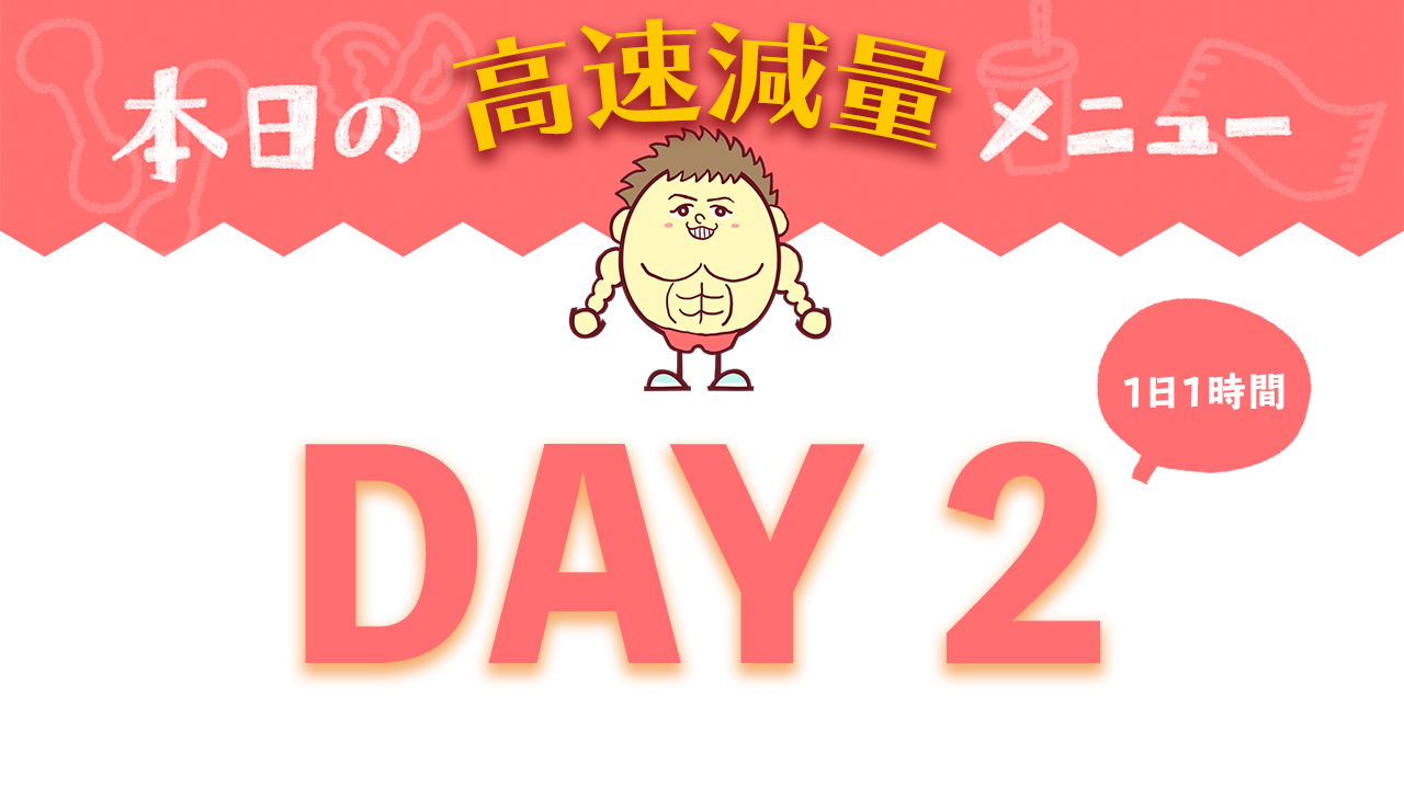 【DAY2】高速減量7DAYメニュー| Muscle Watching