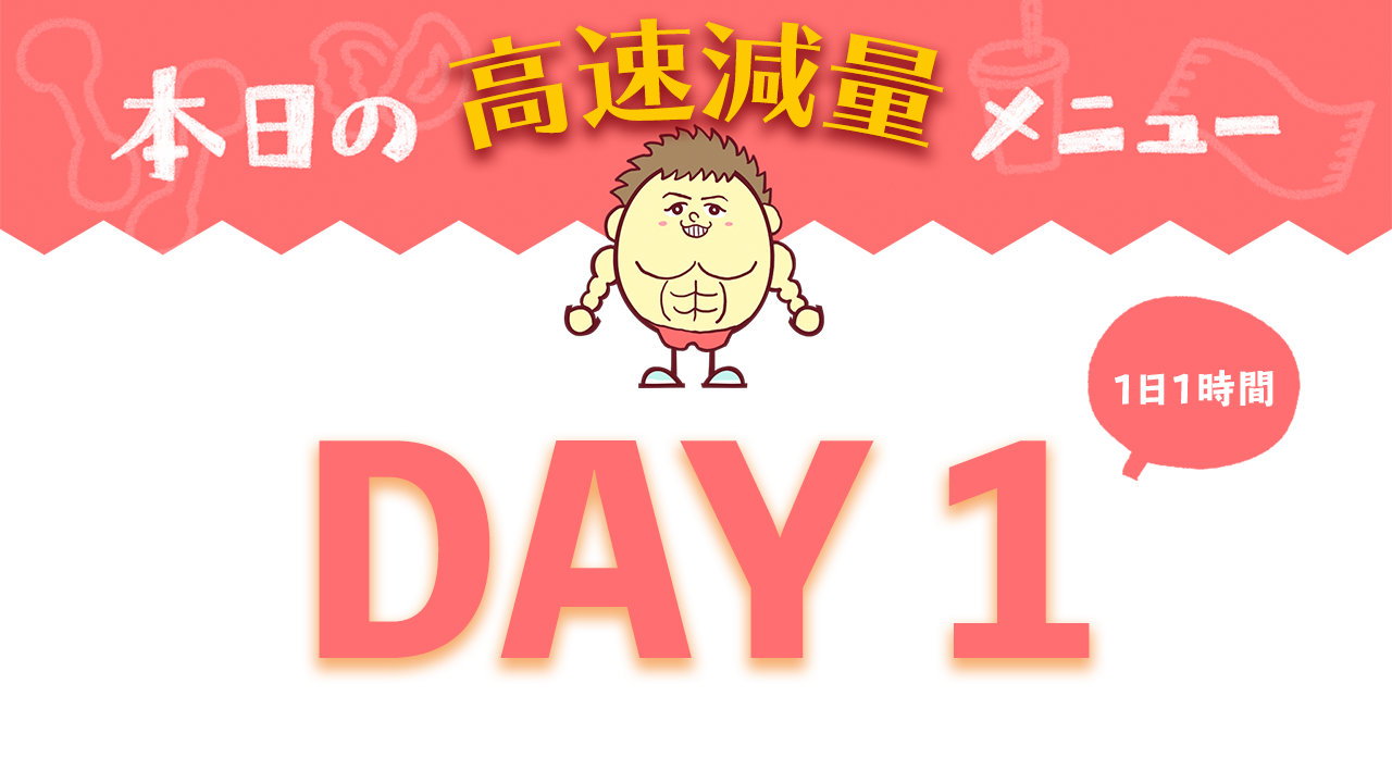 【DAY1】高速減量7DAYメニュー| Muscle Watching