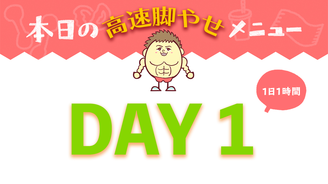 【DAY1】高速脚やせ7DAYメニュー| Muscle Watching