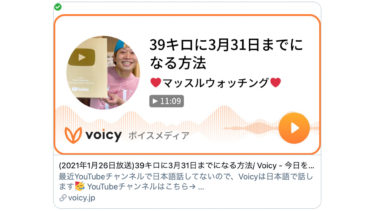 Voicy始めました!日本語の音声ラジオです!